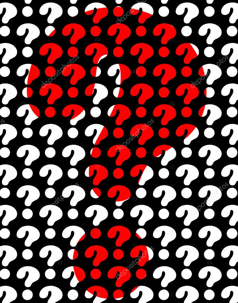 Background editable vector design of question marks — Stock Vector #6477225