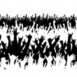 Concert crowd - Stock Vector