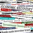 Financial recovery headlines - Stock Vector