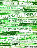 Green energy headlines — Stock Vector