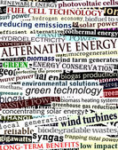 Alternative energy headlines — Stock Vector