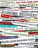 Financial recovery headlines — Stock Vector