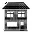 Stock Vector: Basic house