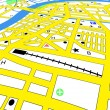 Editable vector streetmap of a generic city with no names — Stock Vector #6491977