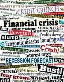 Financial crisis headlines — Stockvector