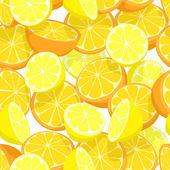 Citrus seamless tile — Stock Vector