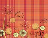 Tartan flowers — Stock Vector
