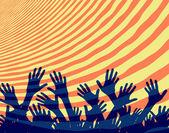 Crowd hands — Stock Vector