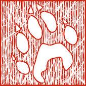 Wolf print — Stock Vector