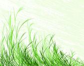 Blowing grass — Stock Vector