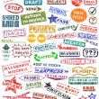 Rubber stamps — Vector de stock #6518602