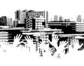 City strain — Stock Vector