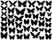 Butterfly shapes — Stock Vector