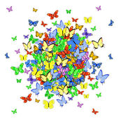 Butterfly ball — Stock Vector