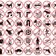 Stock Vector: Forbidden icons