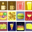 Drink and snack icons — Stock Vector #6520264