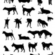 Royalty-Free Stock Imagen vectorial: Dog silhouettes
