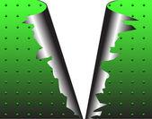 Torn metal — Stock Vector