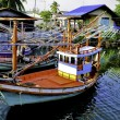 Colorful Thai Fishing boats — Foto de stock #6606273
