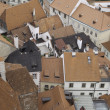 Stock Photo: Rooftops of historic city of Cesky Krumlov,
