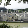 Salzburg, Austria riverfront - Stock Photo
