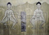 Historic Thai Anatomy Painting — Stock Photo