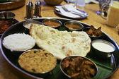Tradtional Indian Food platter — Stock Photo