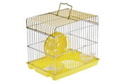Small Yellow Hamster Cage — Stock Photo