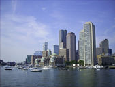 Boston Harbor Skyline — Stock Photo
