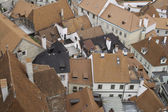 Rooftops of historic city of Cesky Krumlov, — Stock Photo
