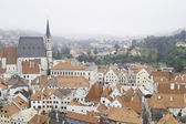 Historic rooftops of Cesky Krumlov — Stock Photo