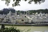 Salzburg, Austria riverfront — Stock Photo