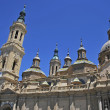 Towers of Basilica del Pilar - Stock Photo