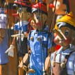Wooden puppets — Stock Photo
