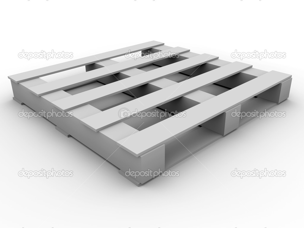 Wooden pallet ready for merchandise. 3d render — Stock Photo #6401069