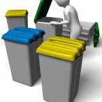 Man searching garbage — Stock Photo