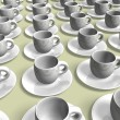 White coffee cups — Stock Photo #6426155