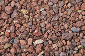 Red gravel — Stock Photo