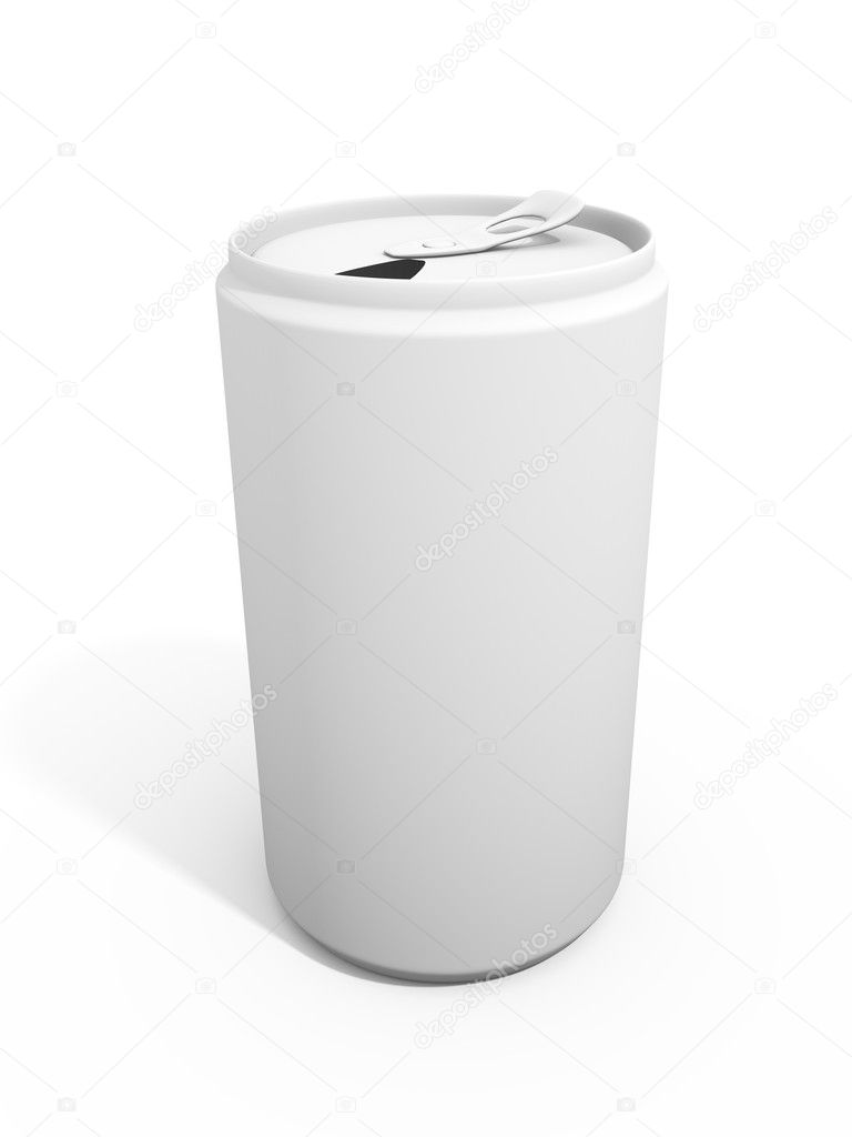 3d render of a refreshment can over a white background — Stock Photo #6425928