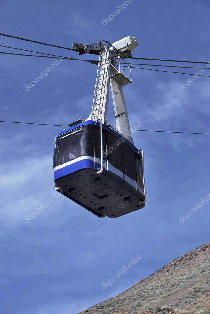Aerial tramway in the mountain. Also known as cable car  Stock Photo #6426099