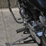 Black motorcycle — Stock Photo #6432482