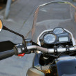 Black Motorcycle Detail - Foto Stock