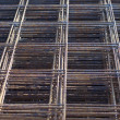 Stock Photo: Metal mesh of iron rods