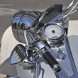 Silver motorcycle — Stock Photo