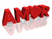 Amor word — Stock Photo