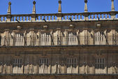 Antique balcony in Salamanca — Stock Photo