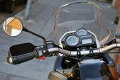 Black Motorcycle Detail — Stock Photo