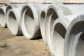 Concrete tubes — Stock Photo