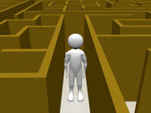 Man in a Maze — Stock Photo