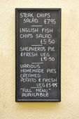 English Menu — Stock Photo
